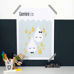 About Graphics Horoscope kids poster star sign Gemini framed