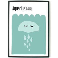 About Graphics Horoscope framed poster for kids star sign Aquarius
