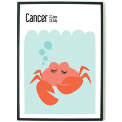 About Graphics Horoscope framed poster for children star sign Cancer