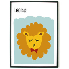 About Graphics Horoscope framed poster star sign Leo