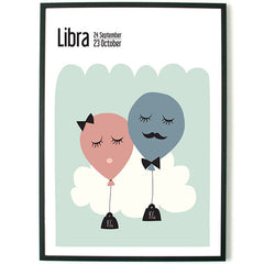 About Graphics kids Horoscope framed poster star sign Libra