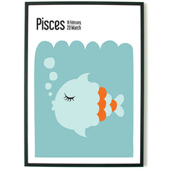 About Graphics Horoscope framed poster star sign Pisces