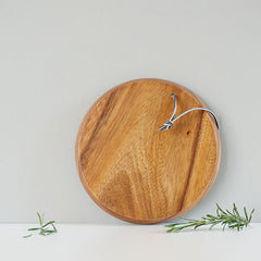 Round acacia wooden chopping board from Fog Linen