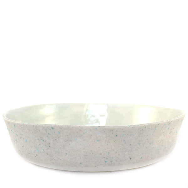 Ineke van der Werff porcelain+ bowl in bronze, iron and glass