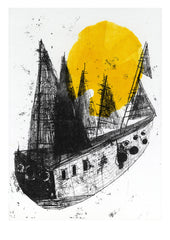Between Dog and Wolf | Faye Moorhouse illustration The Ship print