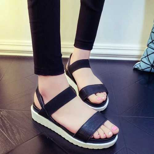Women Summer Flats Sandal Fashion Comfortable Casual Outdoor Beach Sandal Shoes