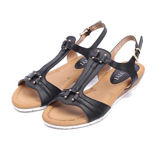 Comfortable T Strap Summer Casual Beach Sandals