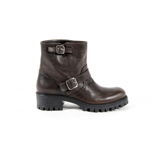V 1969 Italia Womens Short Boot Brown AMALFI