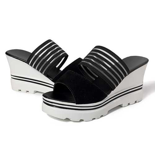Summer Women Open Toe Wedge Sandals