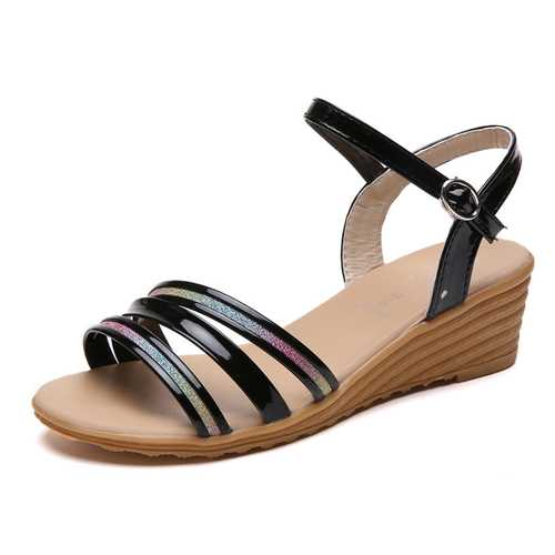 Women Summer Roman Sequined hasp Beach Sandals
