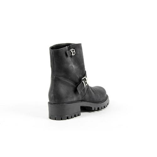 V 1969 Italia Womens Short Boot B1441 NABUK NERO