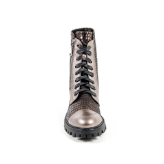 V 1969 Italia Womens Short Boot B1476 VITELLO + PIETRA BRONZO