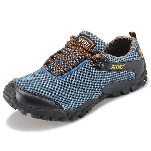 Men Waterproof Lace Up Hiking Outdoor Sneakers