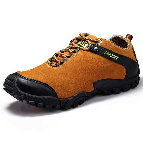Men Suede Wear-resistant Outdoor Hiking Shoes