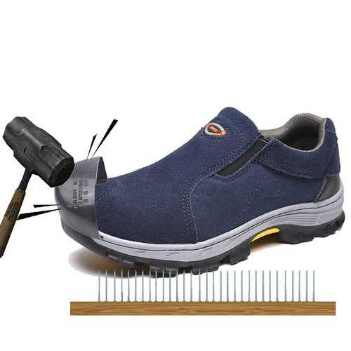 Men Steel Toe Anti Smashing Puncture Safety Shoes