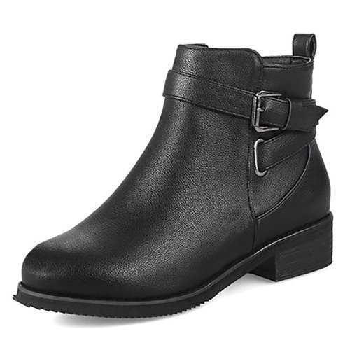 Warm Buckle Stylish Boots