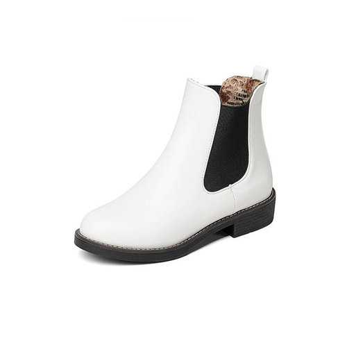 Large Size PU Leather Platform Boots