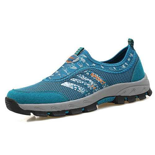Men Mesh Textile Slip Resistant Outdoor Hiking Shoes