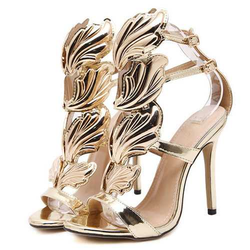 Metal Wings High Heels Pumps For Women