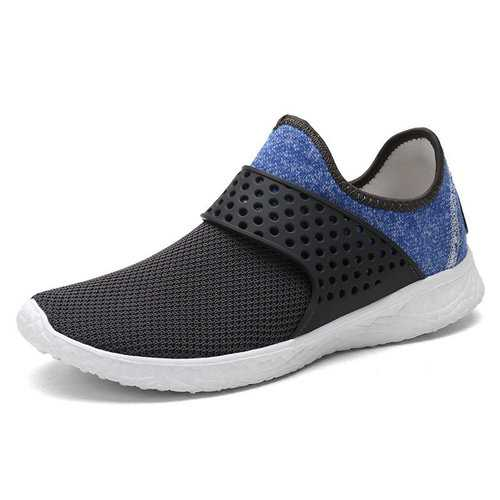 Men Mesh Elastic Slip On Sneakers