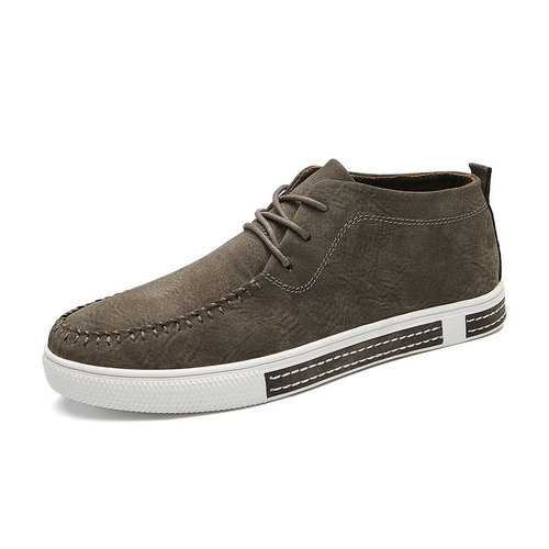 Men High Top Leather Trainers