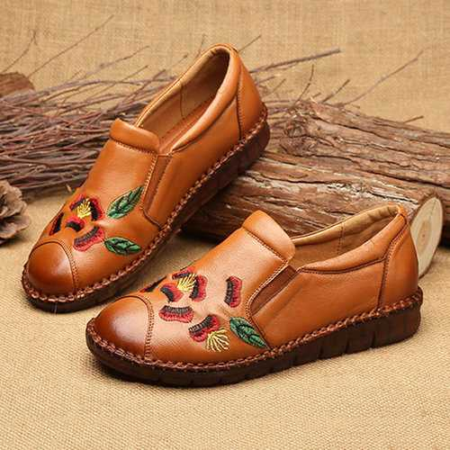 Embroidered Soft Vintage Shoes