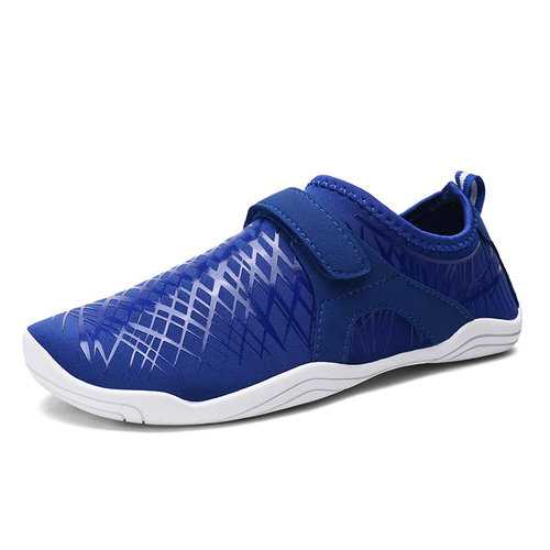 Men Elastic Cloth Slip Resistant Hook Loop Casual Sneakers