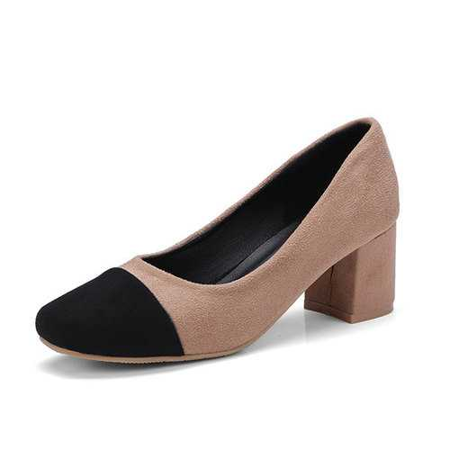 High Heels Round Toe Shoes Ladies Pumps