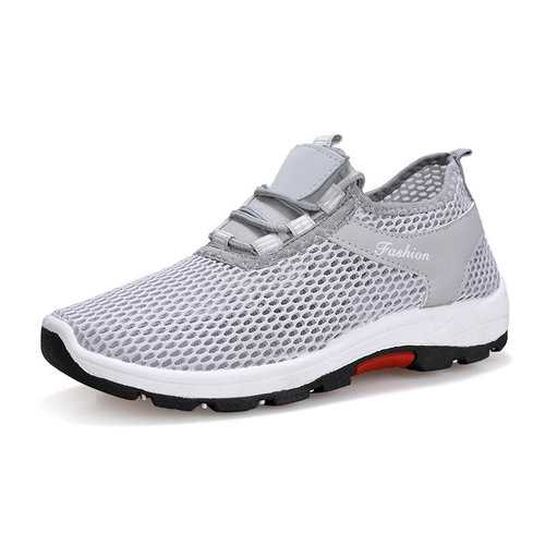 Men Mesh Fabric Sport Running Sneakers
