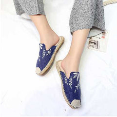 Flowers Embroidery Women Ladies Casual Espadrilles