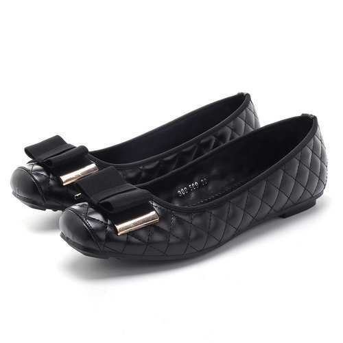 Bowknot Patent Leather Elegant Lady Flats