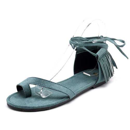 Retro Clip Toe Tassel Sandals