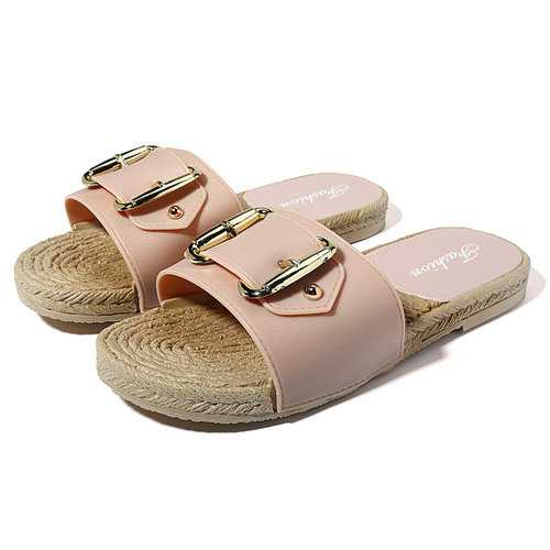 Antislip Solid Buckle Sandals