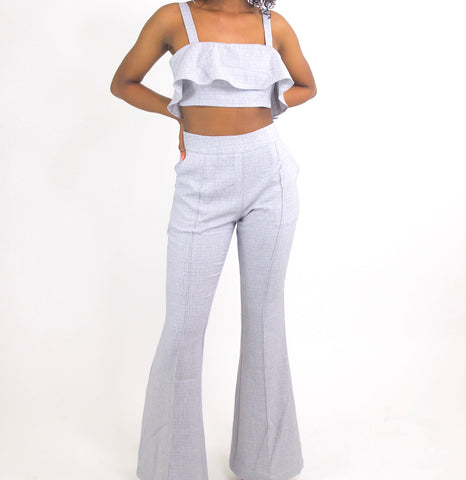 Grey/Light Blue 2 Piece Set