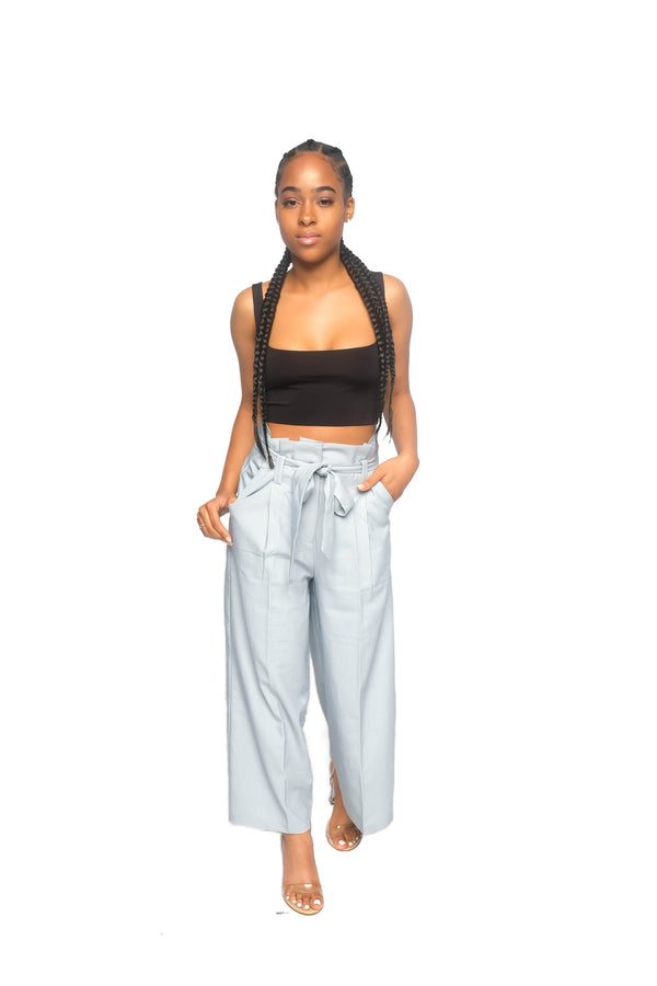 Light blue Culottes with Belt