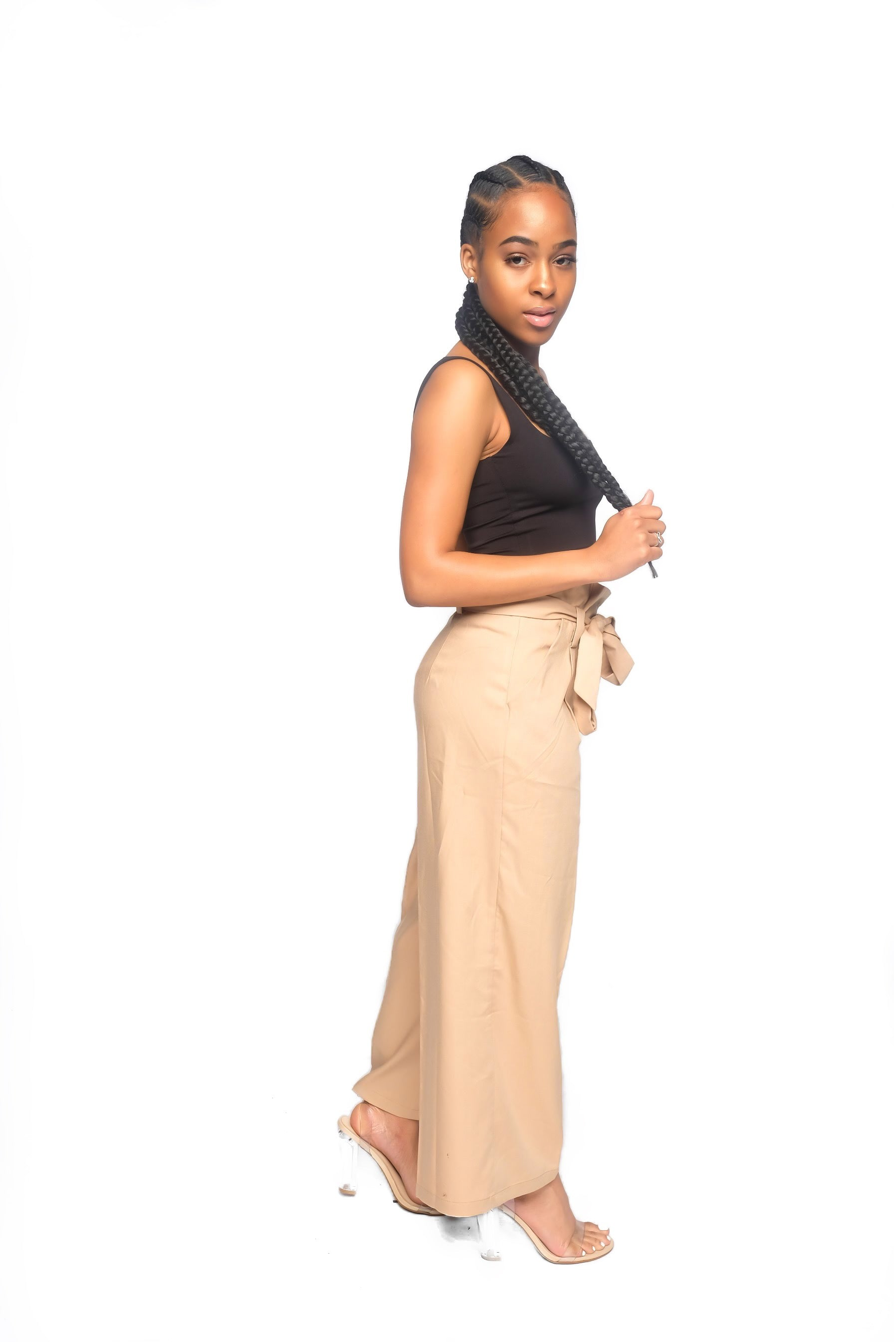Tan Culottes with Belt