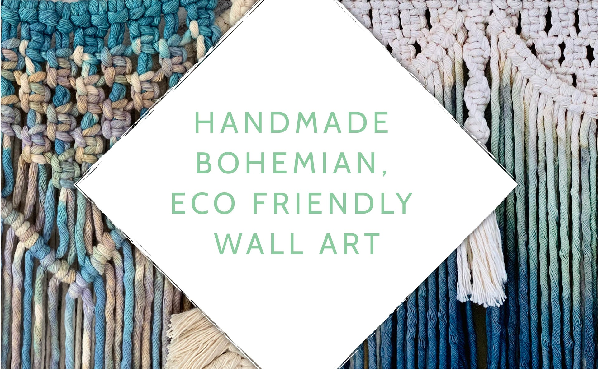 handmade, bohemian, eco friendly wall art