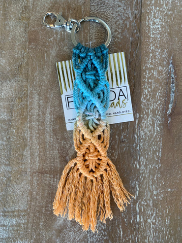 Macramé Key Chain - Ocean and Sunshine