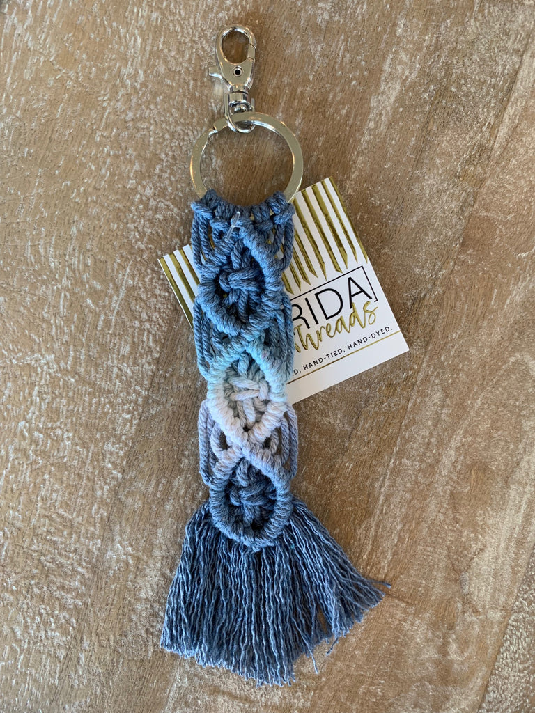 Macramé Key Chain - Sky, Sand and Ocean