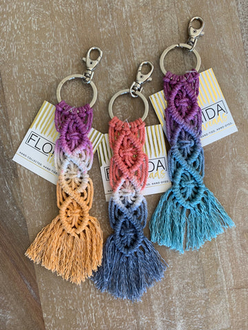 3 Macramé Key Chains - Assorted Set