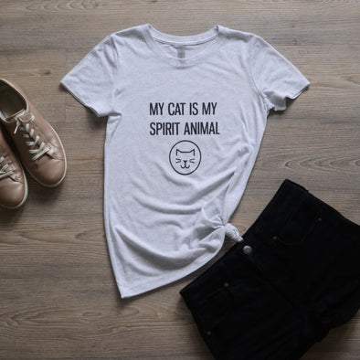 My Cat is My Spirit Animal Women's Fit Tee