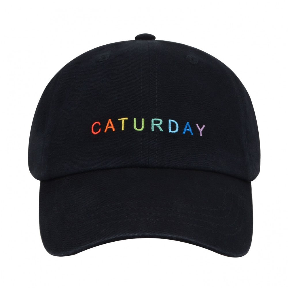 Caturday Embroidered Hat