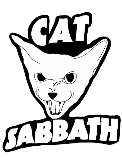 Cat Sabbath Kiss Cut Sticker