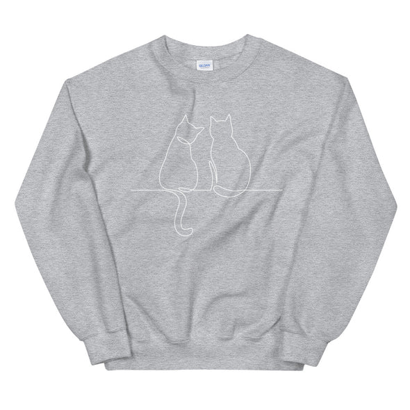 Two Cats Unisex Sweatshirt