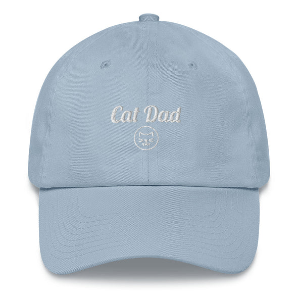 Unisex Cat Dad Embroidered Hat