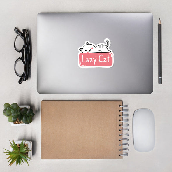 Lazy Cat Sticker