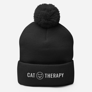 Cat Therapy Pom Pom Beanie