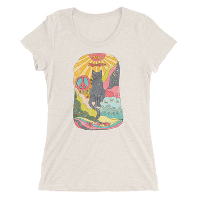 Stay Pawsitive Psychedelic Hand Drawing Women's Fit Tee