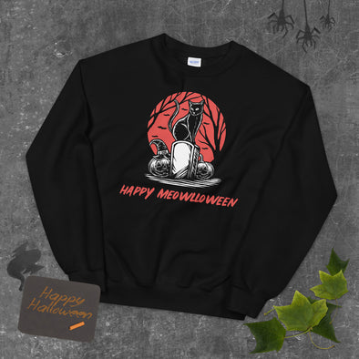 Happy Meowlloween Unisex Sweatshirt