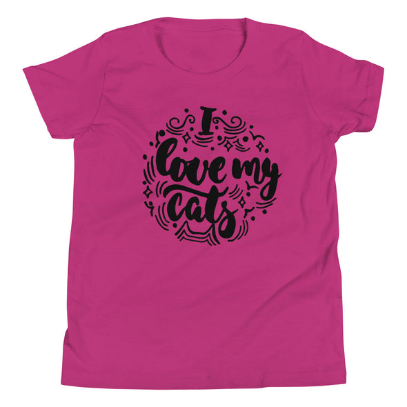 I Love My Cats Youth T-Shirt